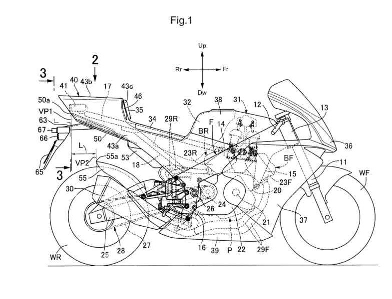 technical draw motorcycle